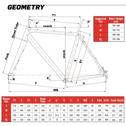 cinelli frame sizing specifications