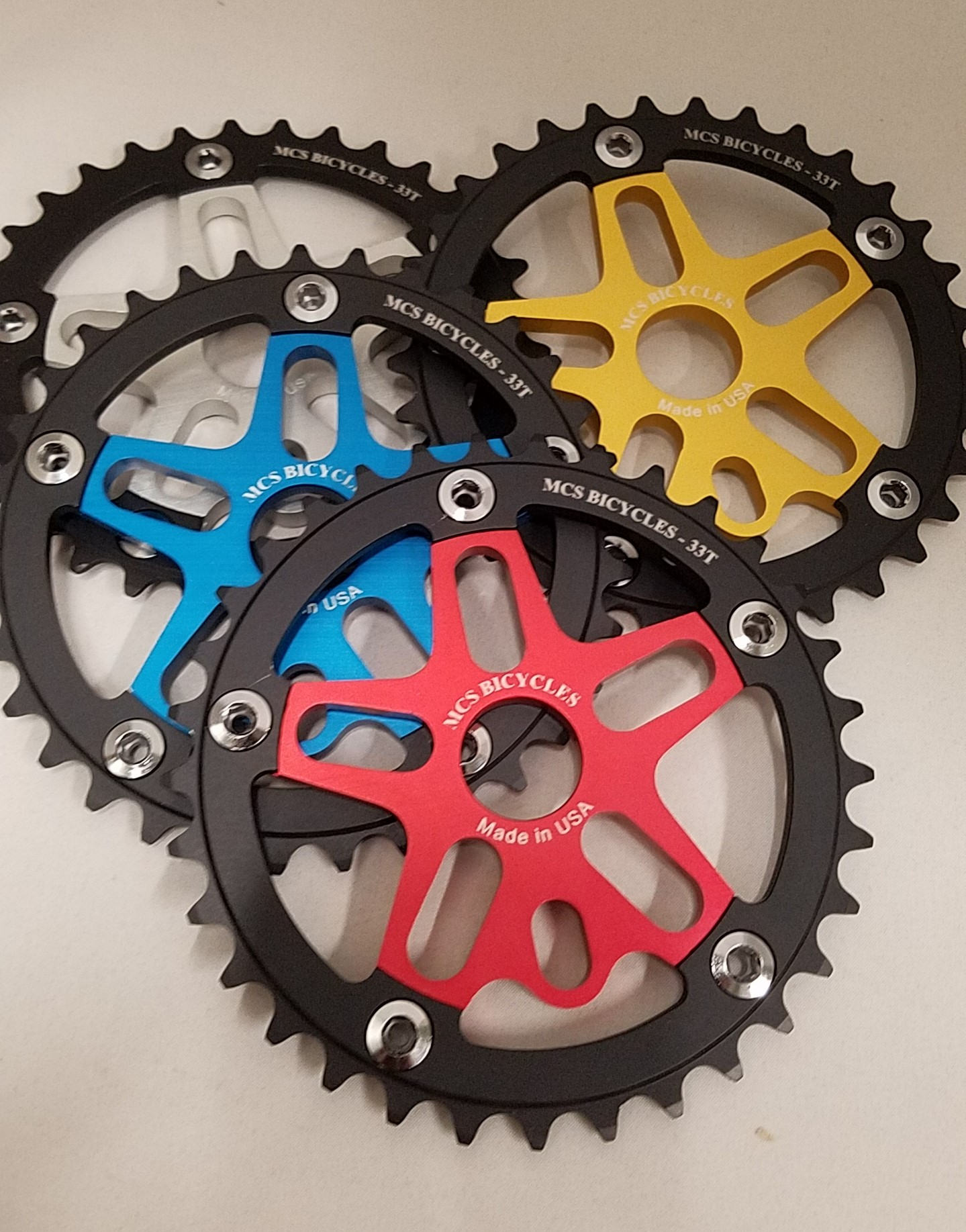 Black BMX Sprocket Alloy USA Made by PROFILE Imperial 44T