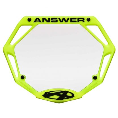 answer bmx number plate