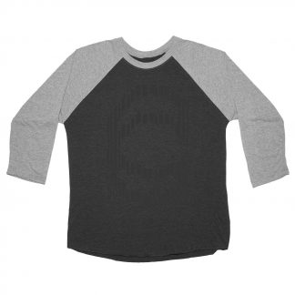 Cinema Sliced 3/4 Baseball Jersey Black/ Grey