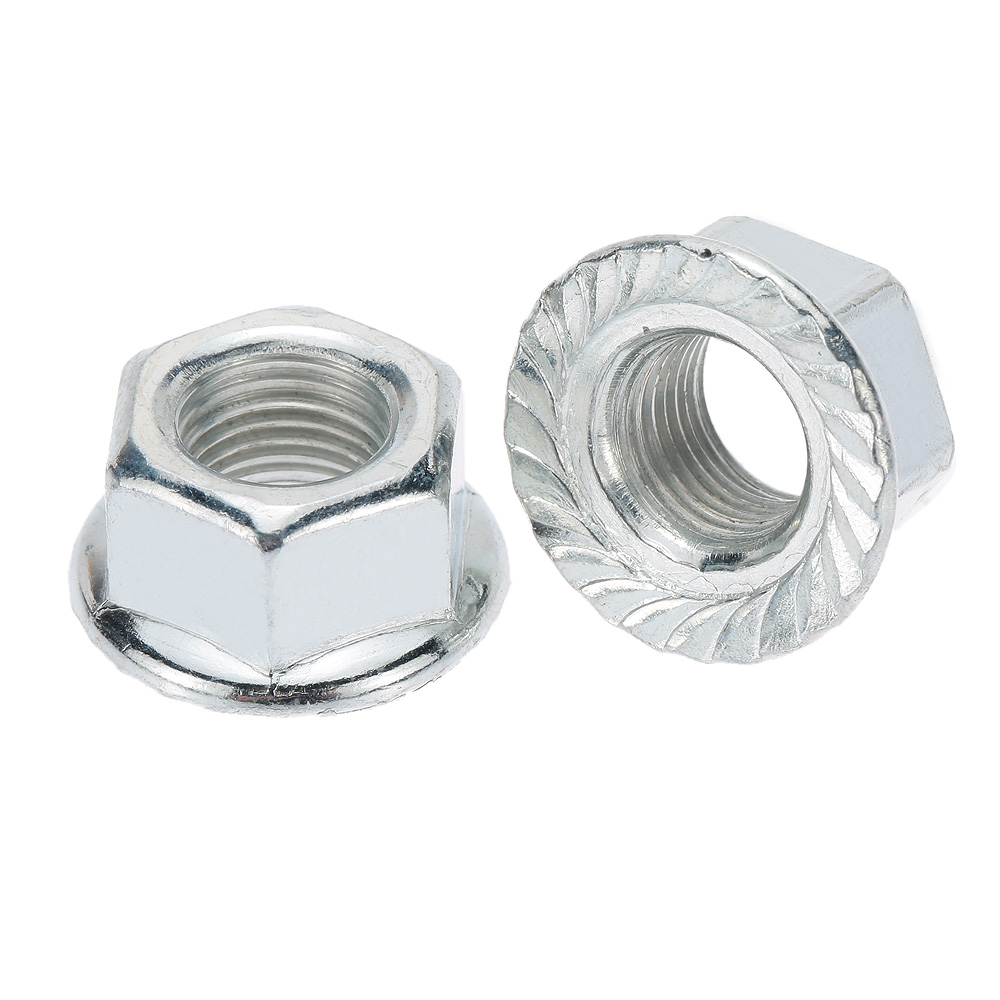 "A 3/8"" Axle Nut Pair Chrome"