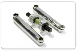 Profile SS 3pc BMX Cranks Chrome 170mm with USA BB