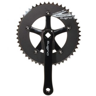 Sugino 170mm RD2 Messenger Cranks with 48T All Black