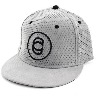Cinema Custom Hat Gray Perforated Suede