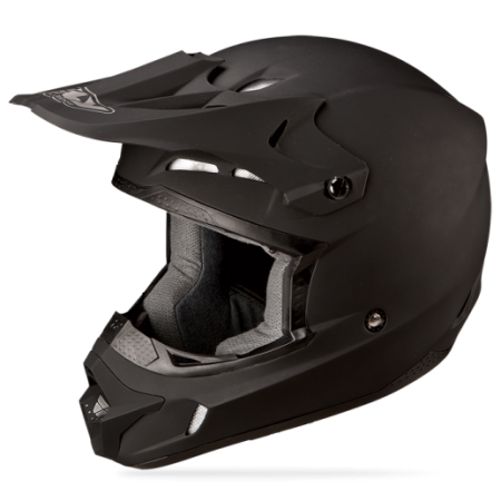 Fly Racing Kinetic Solid Helmet Block Out Matte Black