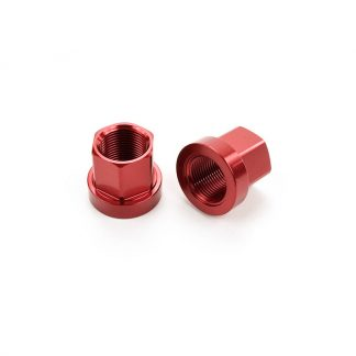Mission 14mm Axle Nuts Red