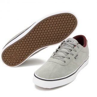Etnies Scam Vulc Shoes Grey/Burgundy