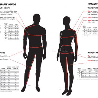 A Fly Racing Sizing Chart