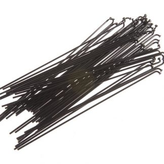 Kink Double Butted Stainless Steel Spokes 40 Black