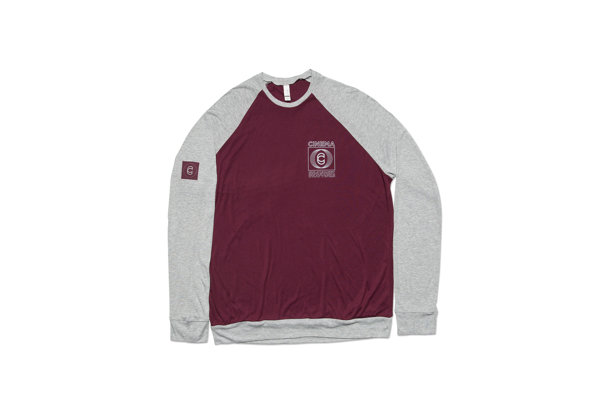 Cinema Broadcast Crew Sweater Maroon/Athletic Gray