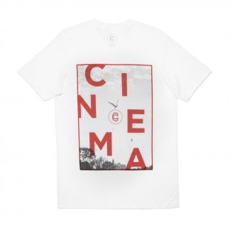 Cinema Staggered T White